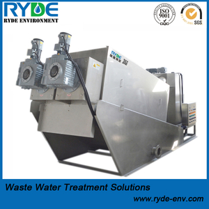 No Clogging Dewatering Multi Disc Screw Press Machine for Oily Sludge Dehydrator