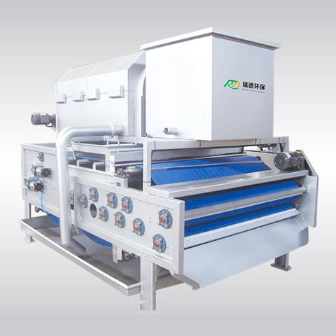 Aumomatic Industrial Rotary Drum Belt Filter Press Machine for Sludge Dewatering